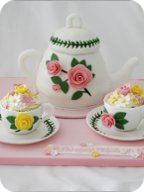 Teapot and Teacups Birthday Cake Manchester