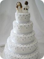 Daisies Wedding Cake with toppers