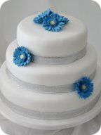 Gerbera Daisy Wedding Cake